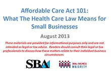 Affordable Care Act SBA Presentation